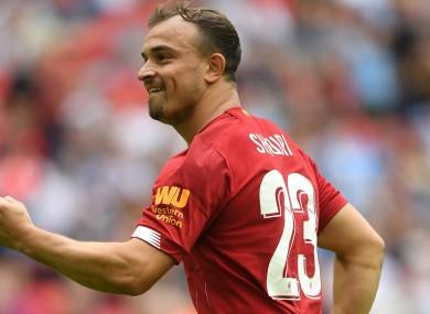 Liverpool's Xherdan Shaqiri.