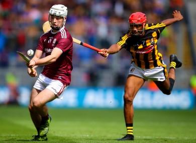 Galway's Seán McDonagh with Kilkenny's Zach Bay Hammond.