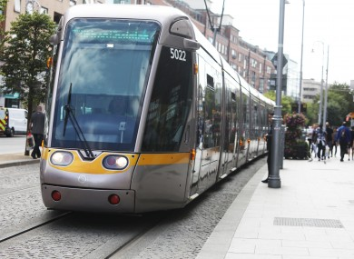 Much of the increase has been down to the introduction of Luas Cross City.