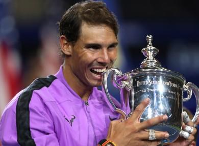 US Open champion Rafael Nadal.