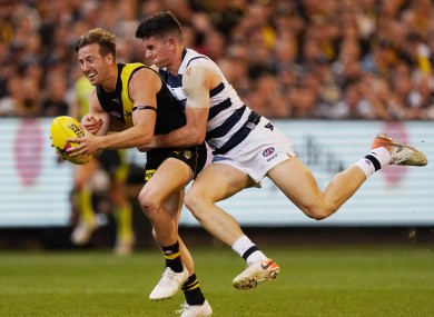 Mark O'Connor in action for Geelong against Richmond.