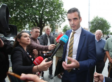 IFA President Joe Healy speaking to media at the High Court last month.