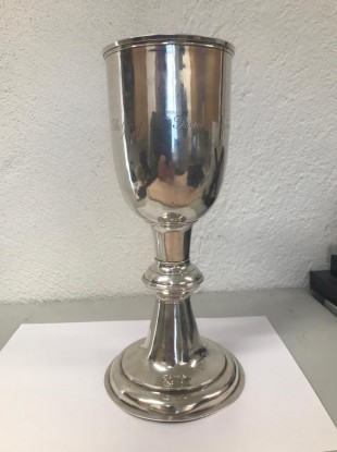 The chalice after it was recovered.