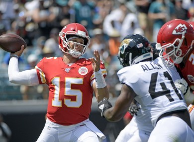 Patrick Mahomes steered Kansas City Chiefs to victory against Jacksonville Jaguars this evening.