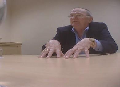 Councillor Hugh McElvaney in a still from RTÉ Investigates.