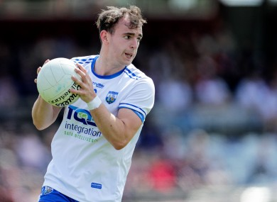 Dessie Hutchinson, pictured playing for the Waterford footballers, impressed for Ballygunner today.
