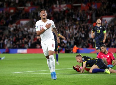 Sancho scored twice for England on Tuesday.