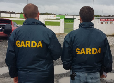 Gardaí carried out a search of the Limerick sports grounds.