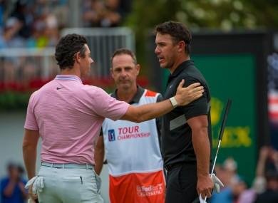 Rory McIlroy and Brooks Koepka at the 2019 PGA Tour Championship.