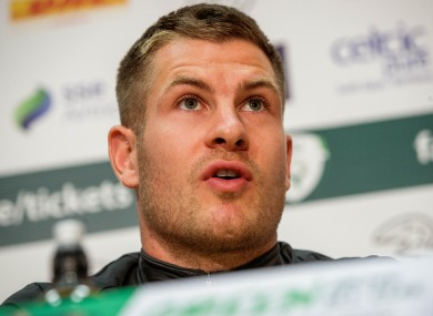 James Collins pictured at today's press conference.