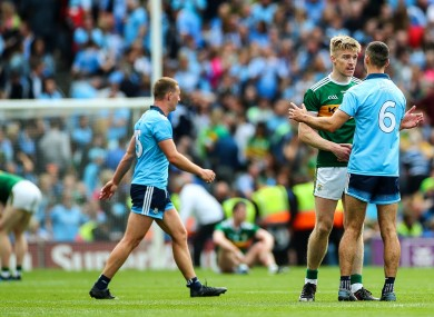 Tommy Walsh and James McCarthy after yesterday's game.