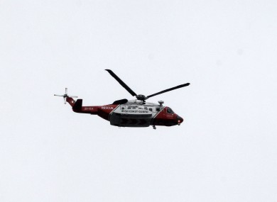 The man was airlifted to hospital by members of the Coast Guard