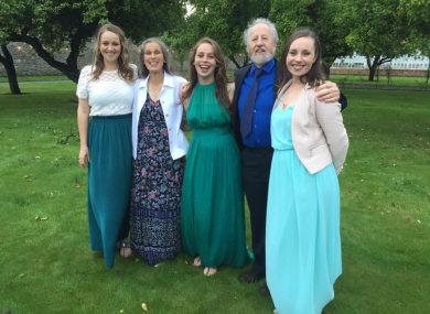 Michael McCoy with his wife Caitríona and his three daughters.