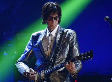 Ric Ocasek during the 2014 Rock and Roll Hall of Fame induction ceremony