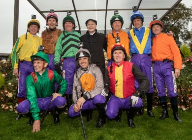 The jockeys on show at the Curragh.