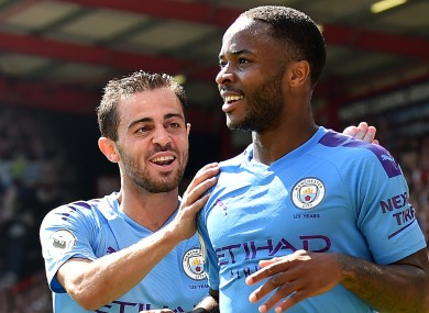 Bernardo Silva and Raheem Sterling.