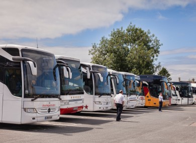 Stock image of coaches.