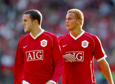 John O'Shea and Wes Brown pictured together in 2006.