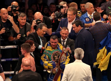 Vasyl Lomachenko after his victory in London.