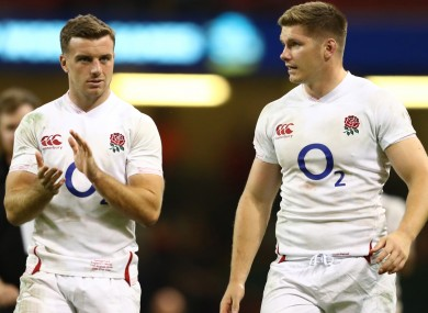 England playmakers George Ford and Owen Farrell.