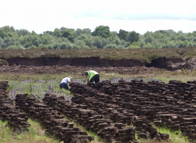 File photo of a bog in Co Offaly.