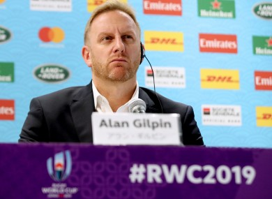 World Rugby's Chief Operating Officer and RWC tournament director Alan Gilpin.