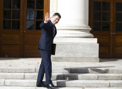 Minister for Finance Paschal Donohoe before the Budget 2020 announcements today.