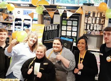 Staff at the shop in Rathfarnham.