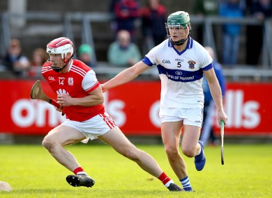 Cuala's Con O'Callaghan takes on Tom Connolly of St. Vincent's.