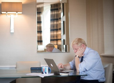 Boris Johnson prepares his keynote Tory conference speech for later today.