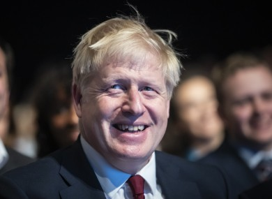 British Prime Minister Boris Johnson pictured at the Conservative Party conference this week.