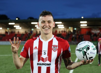 David Parkhouse has scored 11 league goals for Derry this season.