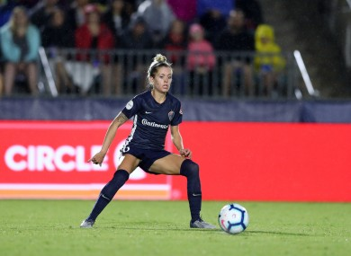 File photo of Denise O'Sullivan in action for North Carolina Courage.