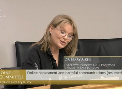 Dr Mary Aiken speaking before the Justice Committee