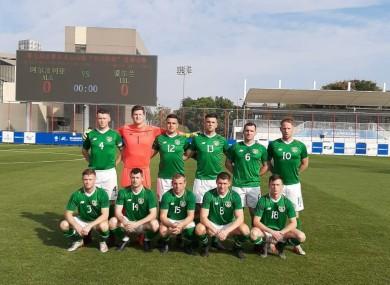 The Ireland team that faced Algeria.
