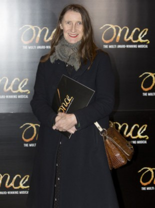 Orla Kiely attending a performance of Once.