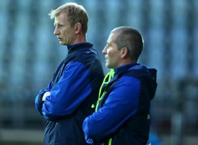 Leo Cullen and Stuart Lancaster (file pic).