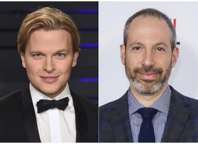 File photos of journalist Ronan Farrow (left) and NBC News President Noah Oppenheim.