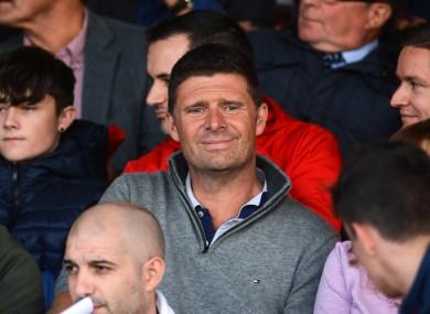 Niall Quinn at the FAI Cup semi-final between Sligo and Dundalk last month.