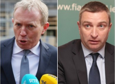 Fianna Fáil's Timmy Dooley and Niall Collins were at the centre of the scandal.