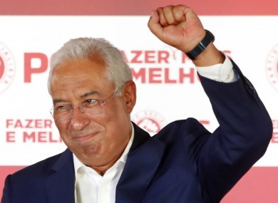 Portugese Prime Minister and Socialist Party leader Antonio Costa.