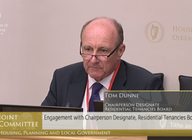 Tom Dunne appeared before the Oireachtas Housing Committee this morning