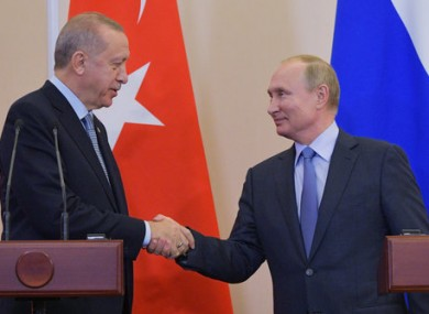 The Turkish and Russian presidents in Sochi.