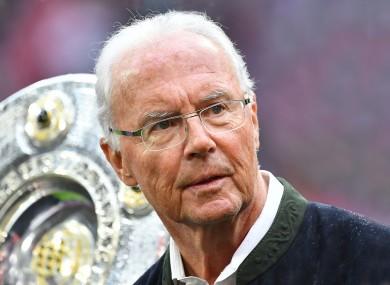 Franz Beckenbauer (file pic).