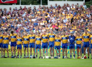 The Clare team during the 2018 championship.