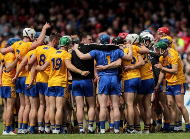 Clare panel pictured before their Munster clash with Cork in June.
