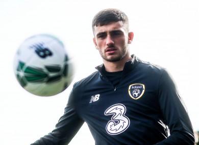 Troy Parrott, pictured at Irish U21 training last month.