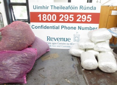 Drugs seized at a mail centre in Laois earlier this year.