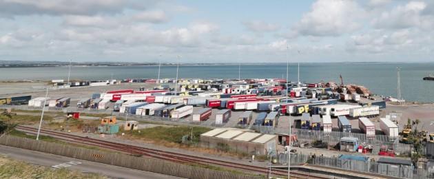 Stock image of Rosslare Port.