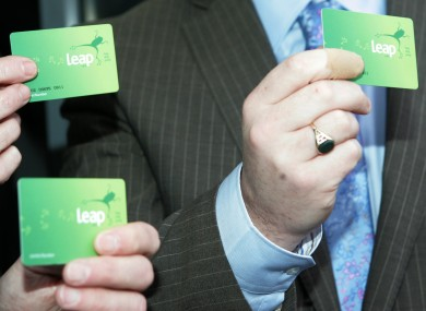 The National Transport Authority unveiled the new Leap Card in 2011.